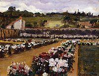 Monet-s Formal Garden, 1886, metcalf