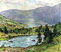 Mountain Lakes, Olden, Norwas, 1913, metcalf