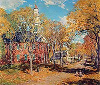 October Morning, Deerfield, 1917, metcalf