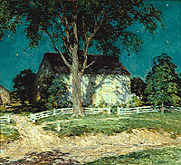Old Homestead Connecticut, c.1914, metcalf