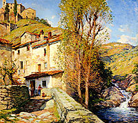Old Mill, Pelago, Italy, 1913, metcalf