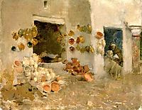 Pottery Shop at Tunis, c.1887, metcalf
