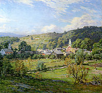 September Morning, Plainfield, New Hampshire , 1911, metcalf