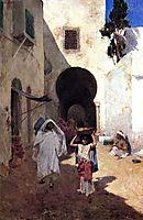 Street Scene Tangiers, 1887, metcalf