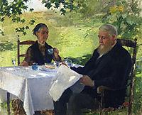 Tea on the Porch, 1890, metcalf