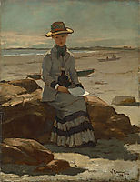 Young Lady on the Beach, 1878, metcalf