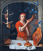 A Baker Blowing his Horn, c.1660, metsu