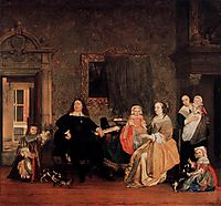 The Family of Jan Jacobsz Hinlopen, c.1662, metsu