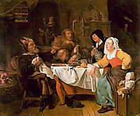 The Feast of the Bean King, 1655, metsu