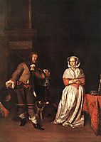 The Huntsman and the Lady, 1660, metsu