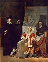 The Patient and the Doctor, c.1667, metsu