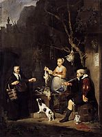 The Poultry Woman, 1662, metsu