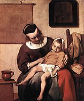 The Sick Child, c.1660, metsu