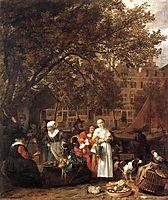 Vegetable Market in Amsterdam, 1662, metsu