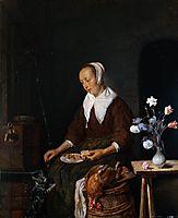 Woman Eating, c.1665, metsu