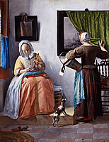 Woman Reading a Letter, c.1666, metsu
