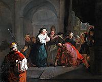 Woman Taken in Adultery, 1653, metsu