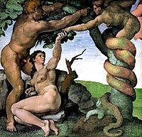 Adam and Eve, 1512, michelangelo