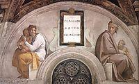 The Ancestors of Christ: Abiud, Eliakim, 1512, michelangelo