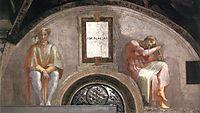 The Ancestors of Christ: Amminadab, 1512, michelangelo