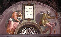The Ancestors of Christ: Boaz, Obed, 1512, michelangelo