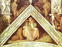 The Ancestors of Christ: Jesse, 1509, michelangelo
