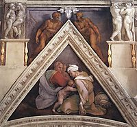The Ancestors of Christ: Ozias, 1509, michelangelo