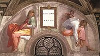 The Ancestors of Christ: Rehoboam, Abijah, 1512, michelangelo