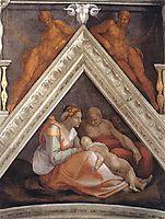 The Ancestors of Christ: Zerubbabel, 1509, michelangelo