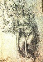 Annunciation (study), 1547, michelangelo