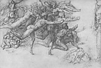Archers shooting at a Herm, 1530-1533, michelangelo