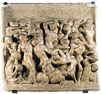 Battle of the Lapiths and Centaurs, 1492, michelangelo