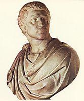 Brutus: detail: 1, 1540, michelangelo
