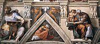 Ceiling of the Sistine Chapel: detail, 1508-1512, michelangelo