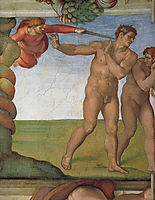 Ceiling of the Sistine Chapel: Genesis, The Fall and Expulsion from Paradise The Expulsion, 1508-1512, michelangelo
