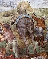 The Conversion of Saul: detail, 1545, michelangelo