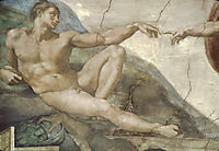 The Creation of Man, detail, michelangelo