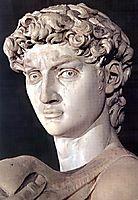 David: detail, 1504, michelangelo