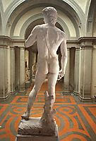 David: detail: rear view, 1504, michelangelo