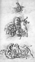 Fall of Phaeton, 1533, michelangelo
