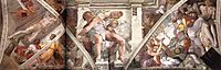 Frescoes above the altwall, michelangelo