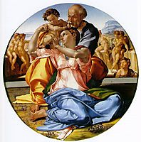 The Holy Family with the Infant John the Baptist, 1503, michelangelo