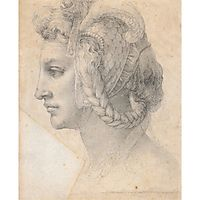 Ideal head of a woman, c.1525, michelangelo