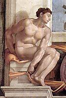 Ignudo, c.1509, michelangelo