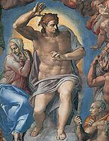 The Last Judgement: Christ the Judge, 1541, michelangelo