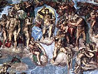 The Last Judgement: detail, 1541, michelangelo