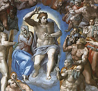 The Last Judgement: detail: 1, 1541, michelangelo