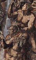 The Last Judgement: detail: 2, 1541, michelangelo