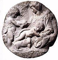Madonna and Child with the Infant Baptist, 1505-1506, michelangelo