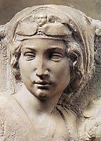 Madonna, Tondo Pitti: detail: 1, 1504-1505, michelangelo